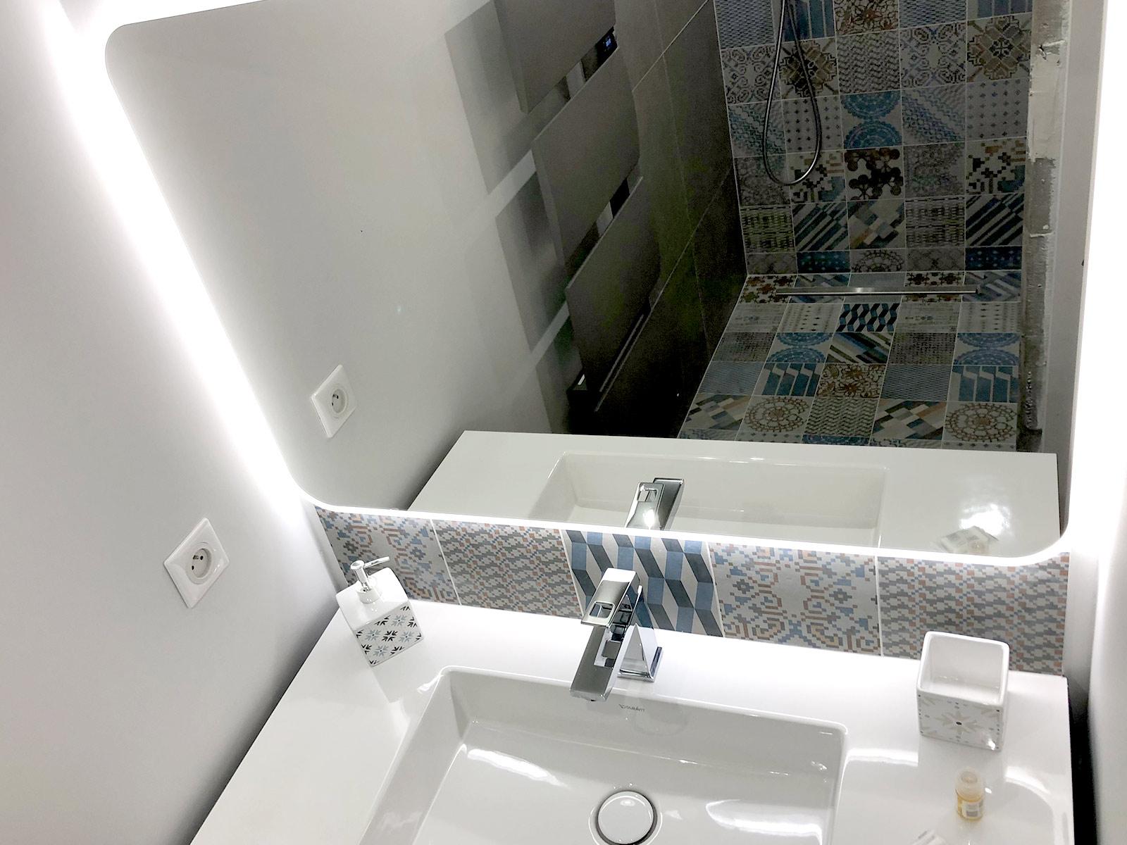 Lavabo & Miroir rétro-éclairé